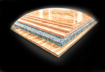 Vibration Isolating Basketball Court by Connor Sports